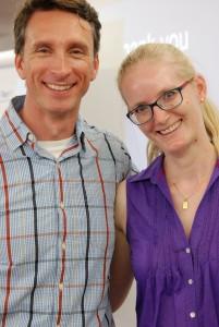 Benita Königbauer, hier mit Mike Michalowicz