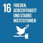 SDG 16 Frieden, Gerechtigkeit und starke Institutionen